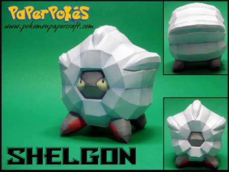 Pokemon Shelgon Papercraft