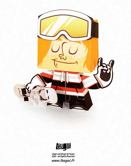 Shaun White Papercraft