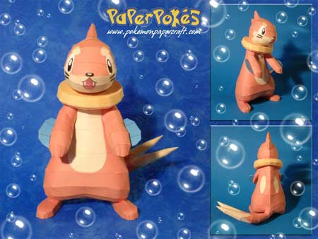 Pokemon Buizel Papercraft