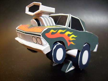 SD Malibu SS Papercraft Hot Rod