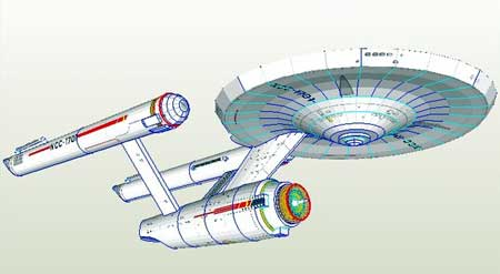 Star Trek The Original Series USS Enterprise Papercraft