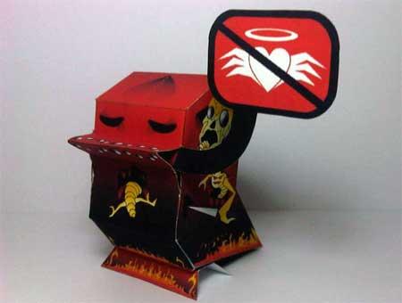 NaniBird Paper Toy - ROtten Bird
