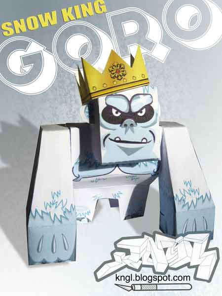 Snow King GORO Paper Toy