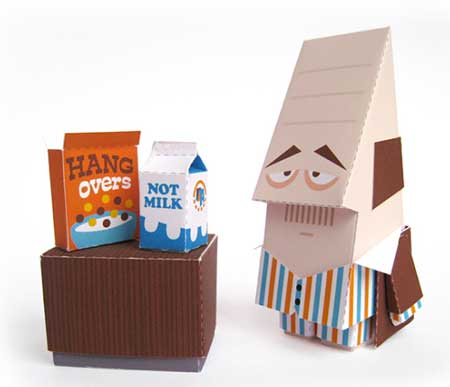 Too Early for Breakfast Papercraft Scene