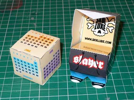 Skulluxe 2011 Paper Toy Calendar