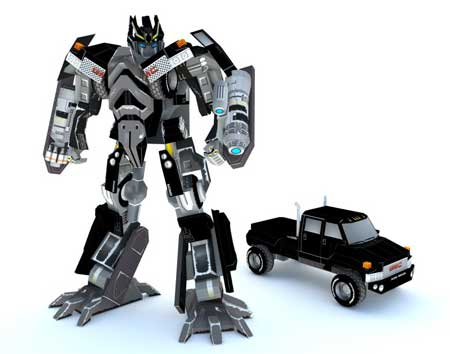 Transformers Ironhide Papercraft