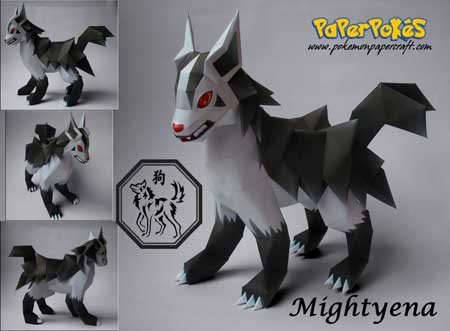 Pokemon Mightyena Papercraft