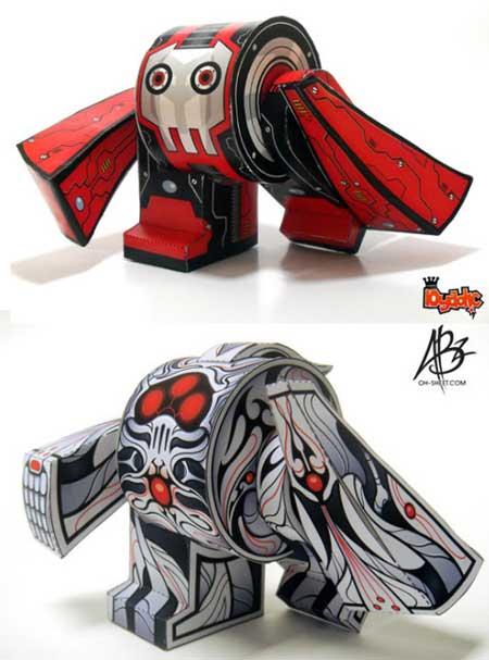 yebot Paper Toy