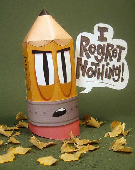 Stubby Pencil Paper Toy