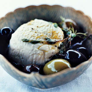 Goat Cheese with Olives, Lemon, and Thyme