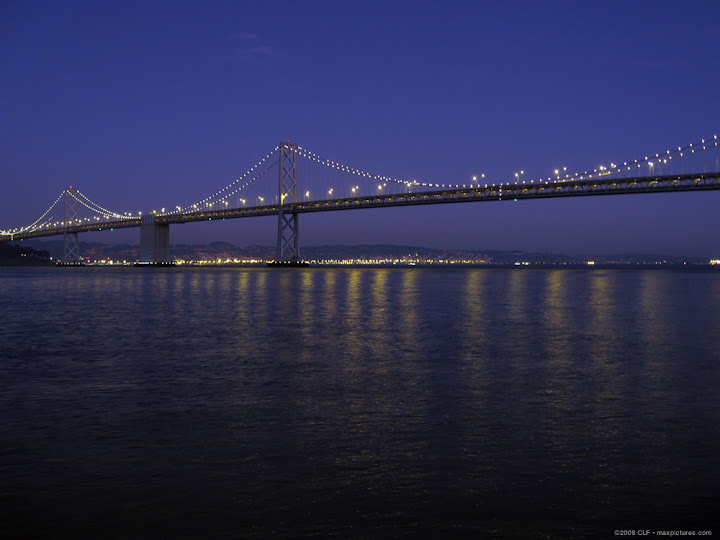 Early evening Bay Bridge