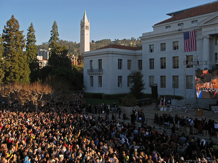 Berkeley crowds for inauguration