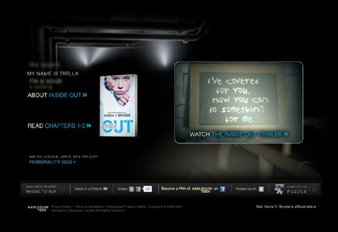 Inside Out by Maria V. Snyder-Trailer & Website launch TODAY