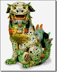 fu dog colorful