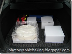 Cakes ready for transport