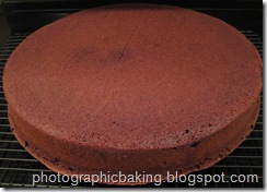 Cooling chocolate cake