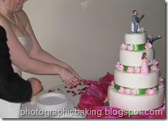 Cutting the Zombie Wedding Cake