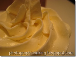Close up of the butter cream