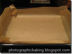 Prepared baking pan.