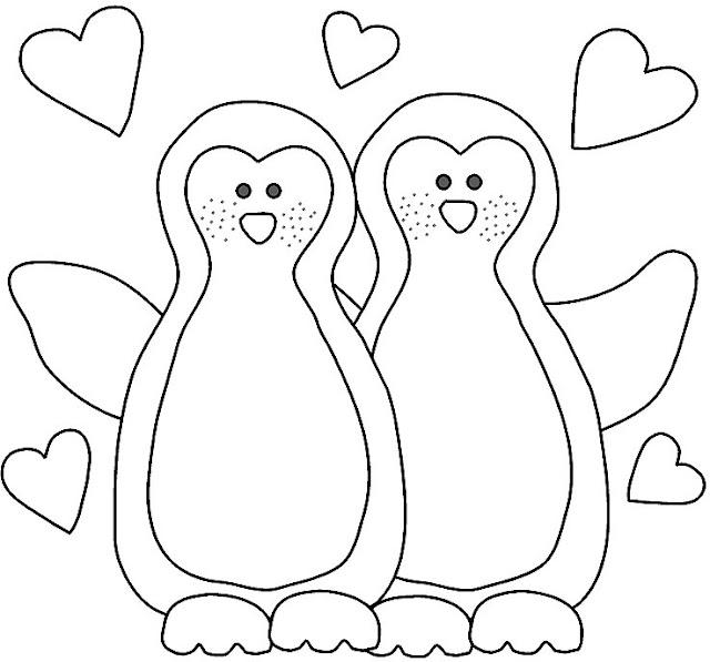 Dibujos de pinguinos para pintar - Dibujos naif para pintar ...