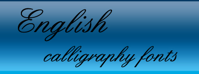 english calligraphy fonts