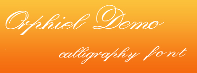 Orphiel Demo calligraphy Font