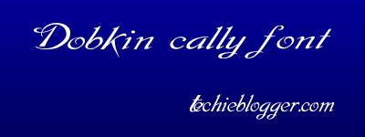 dopkin plain callygraphic font