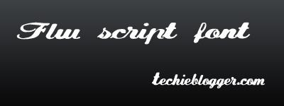 FLW script calligraphic font