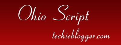 ohio script calligraphy fonts