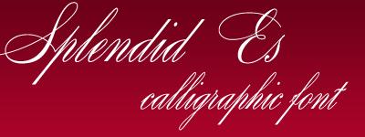 splendid ES calligraphic font