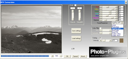 Photoshop black-white conversion plugin