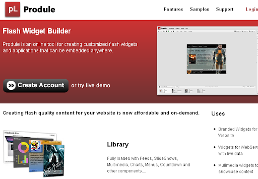 Produle - Create custom flash widgets and applications