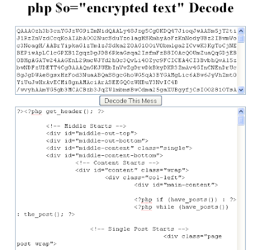 PHP decoder