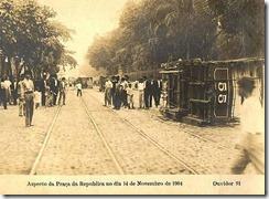 Praça da República – 1904 (Revolta da Vacina)