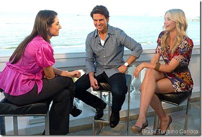 Patrícia Poeta, Tom Cruise e Cameron Diaz
