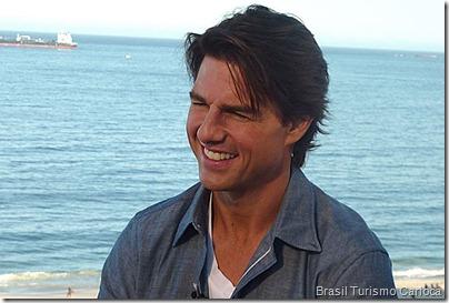 Tom Cruise entrevista foi a praia de Copacabana