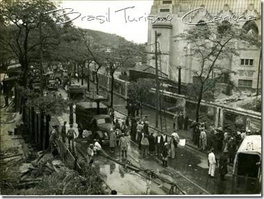 Temporal, bloqueio do Túnel Novo, década de 40