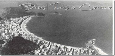 Vista aérea de Copacabana, início dos anos 50
