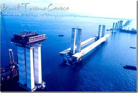 Construção da ponte Rio-Niterói, 1973