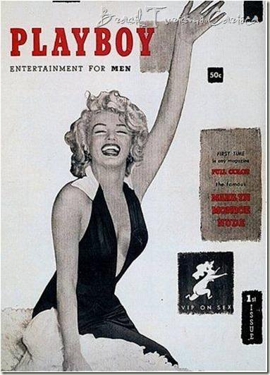 Playboy de 1953 com a bela Marilyn Monroe