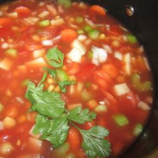 Hearty Vegetable Soup With Chickpeas Recipes