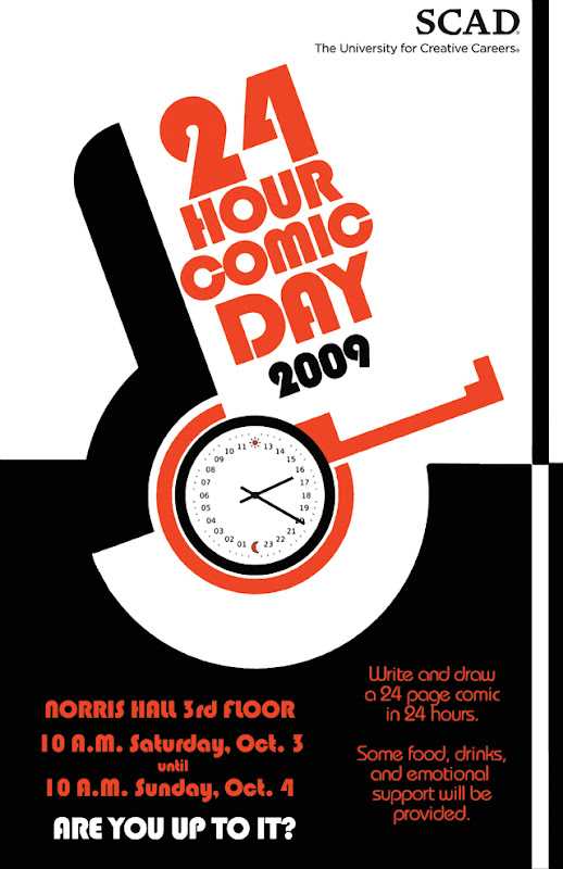 24 Hour Comics Day poster