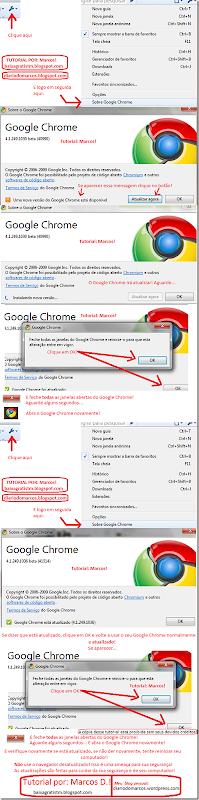 atualização Google Chrome