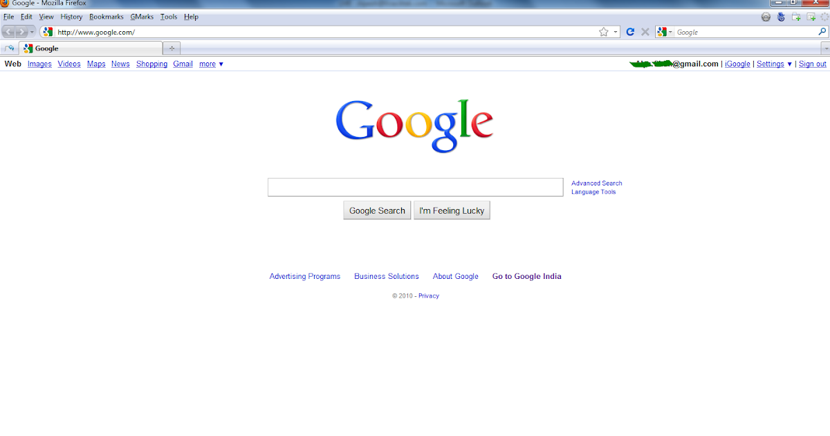 google home page with background image linkoblast