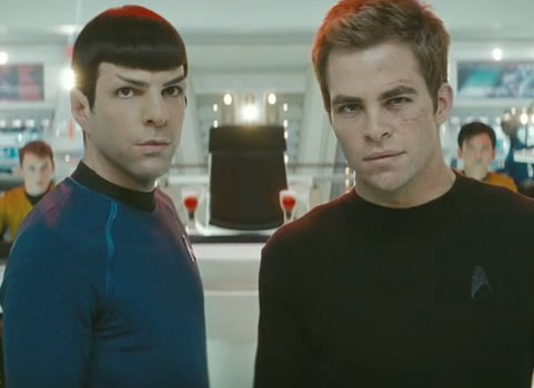 Star Trek 2009 Kirk Spock Chris Pine Zachary Quinto