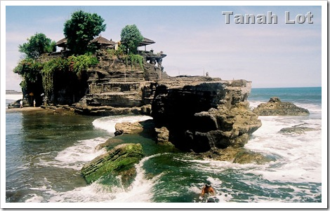 tanah lot rocks