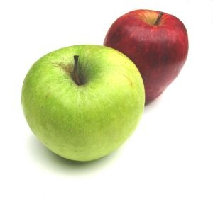 apples-two-red-green