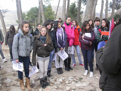 Els alumnes a Sant Pere el Gros