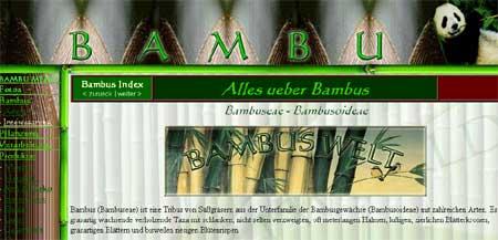 Bambus Welt, alles ueber Bambus