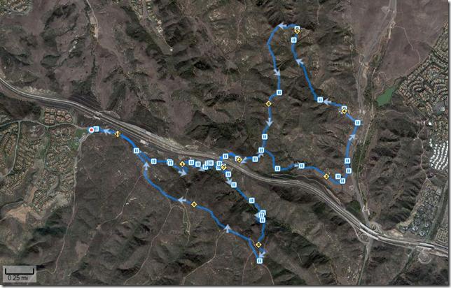 Running Bommer Ridge-El Moro 10-3-2010